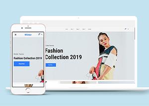 冬季时装商城html网站