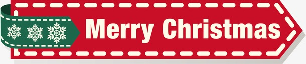 Merry Christmas红色标签