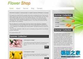 文艺花店商城网站模板