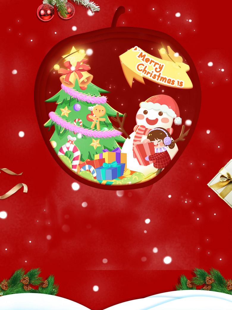 红色圣诞主题背景