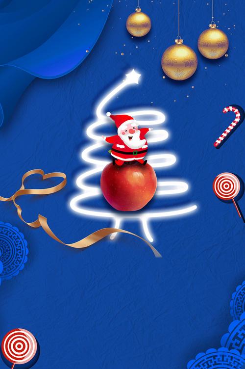 创意圣诞节装饰背景图