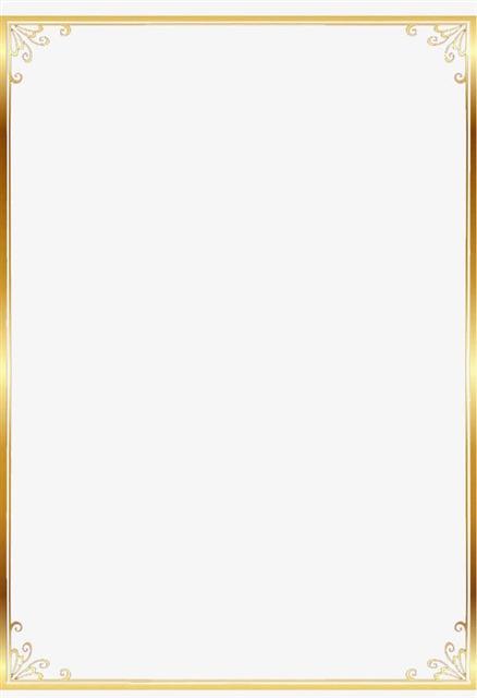 金色矩形欧式花纹边框