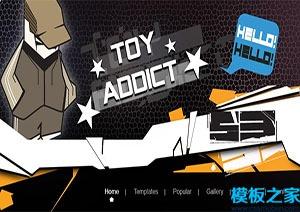 卡通动漫风格个人博客网站模板