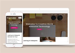 宽屏设计科技公司网站模板