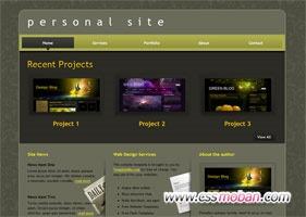 产品展示类网页模板