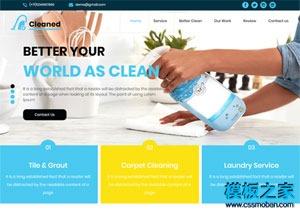 清洁用品网站模板