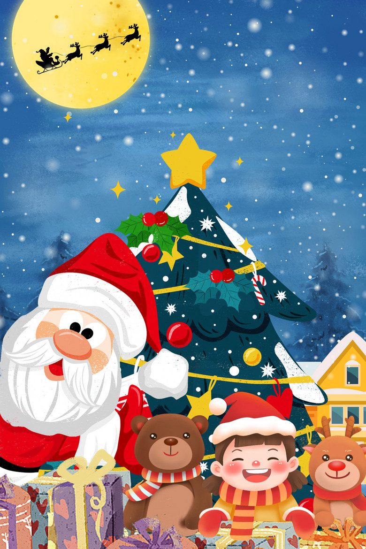 圣诞老人卡通背景图