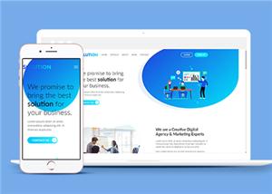 营销代理公司单页网站模板