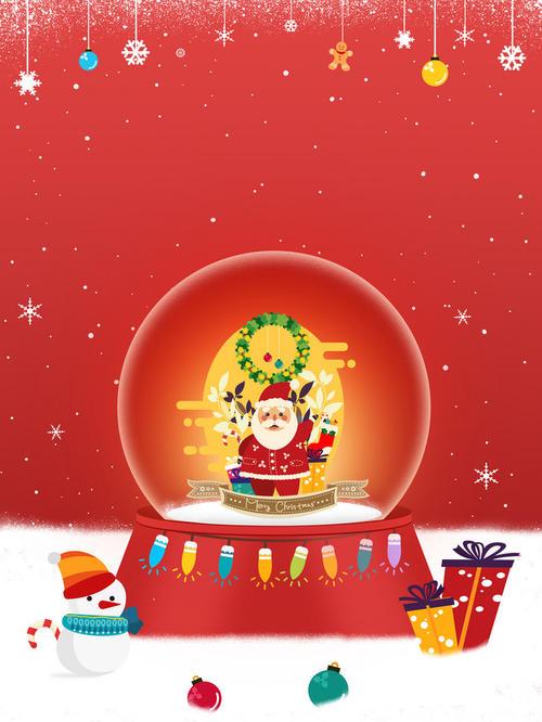 红色圣诞节背景