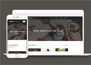 新品服装发布web网站模板