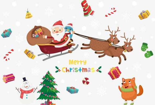 卡通圣诞节贴纸