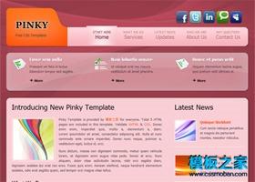 粉红色背景网站模板