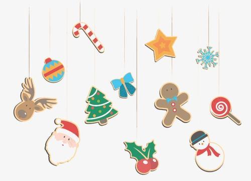 可爱圣诞元素挂饰免抠