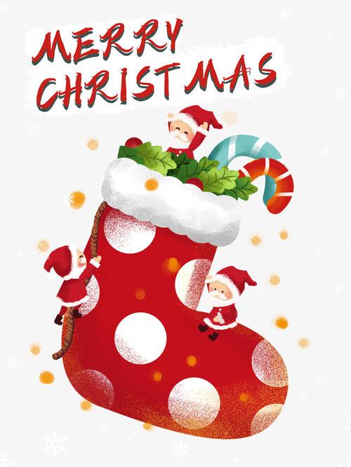 圣诞节手绘圣诞袜