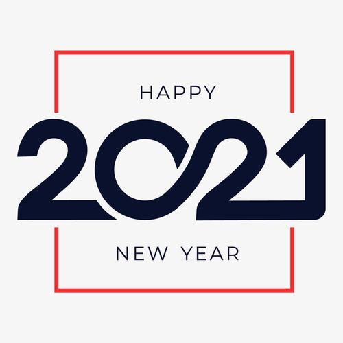 2021创意排版数字