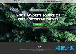 森林氧吧保护区单页模板