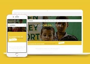 扶贫公益基金响应式网页模板