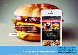 汉堡快餐美食网站模板