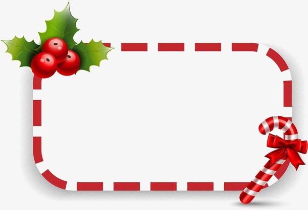 红色圣诞矩形边框