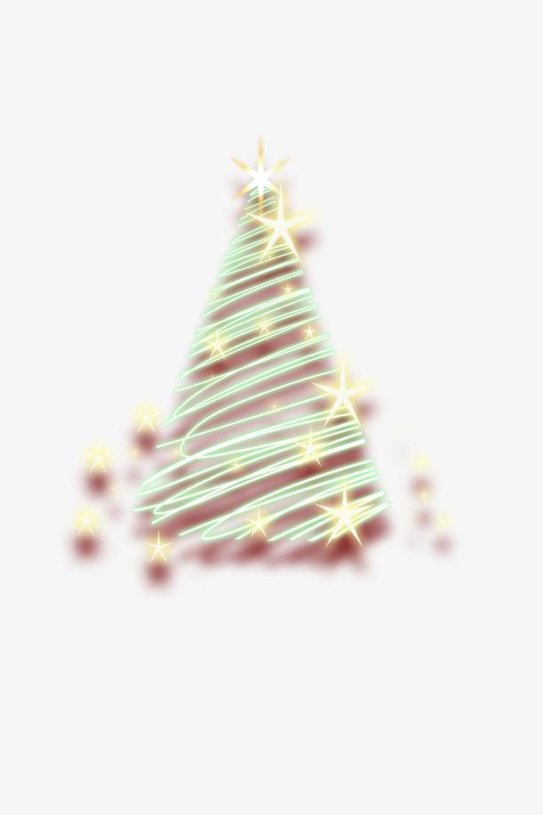 发光圣诞树