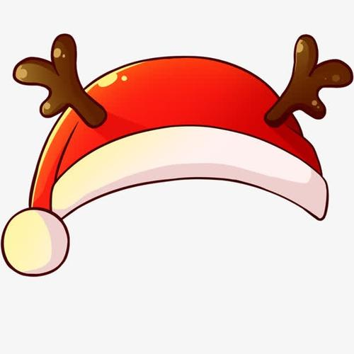 红色鹿角圣诞帽子免抠元素