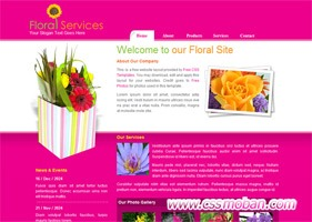 鲜花公司网站模板