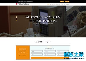 养老疗养院响应式网页模板
