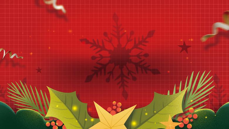 可爱卡通圣诞节背景