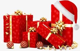 红色喜庆圣诞礼物