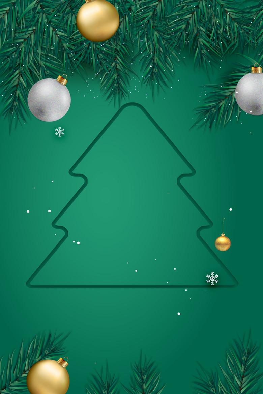 圣诞节绿色背景