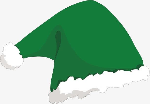 抖音绿色圣诞帽png免抠