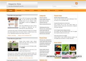 简单的三栏式博客模板