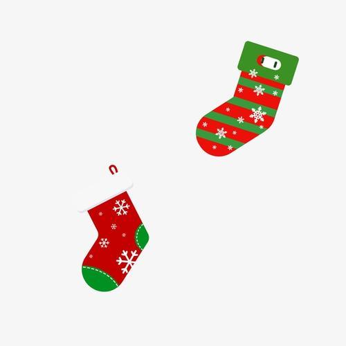 圣诞节可爱圣诞袜免抠