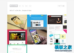 摄影相册图库html5网页模板