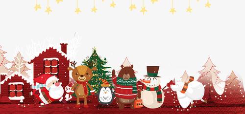 圣诞快乐主题插画