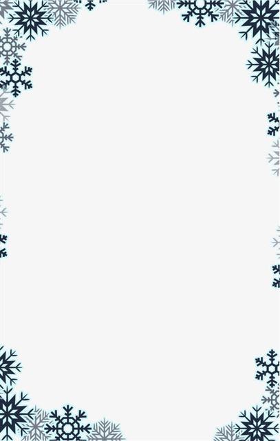 圣诞节雪花元素边框