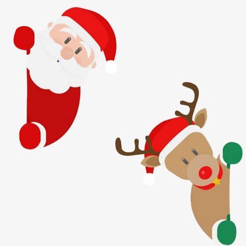 圣诞老人麋鹿可爱圣诞元素