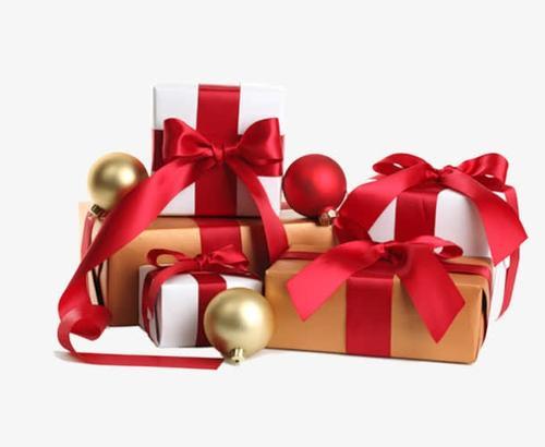 红色节日礼物圣诞元素免抠