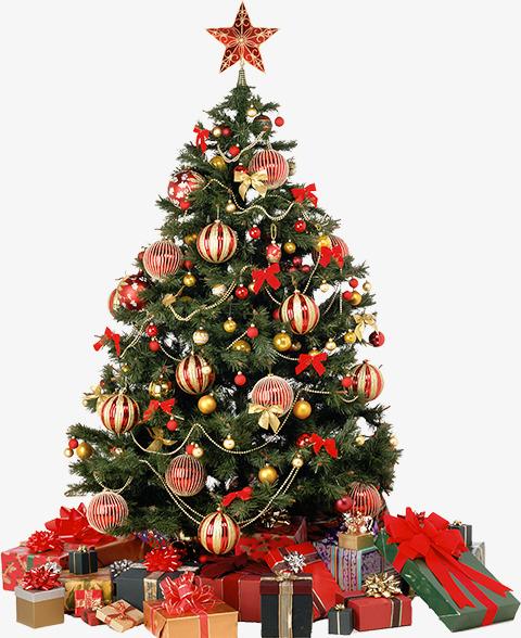 喜庆圣诞树装饰