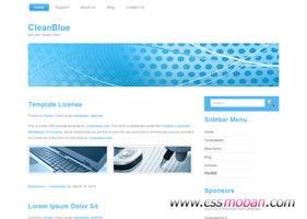 蓝色干净简洁网页模板