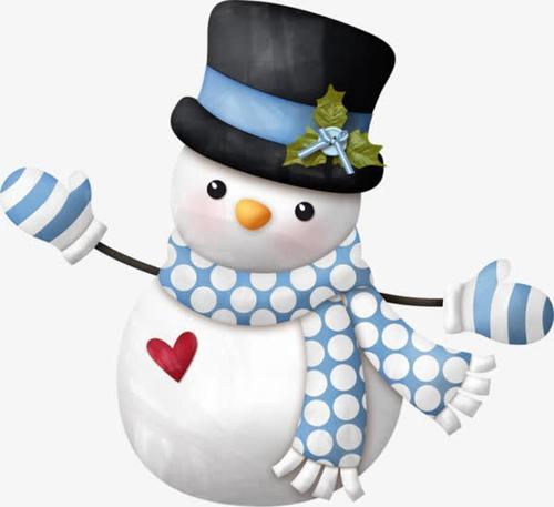 有创意的雪人圣诞元素