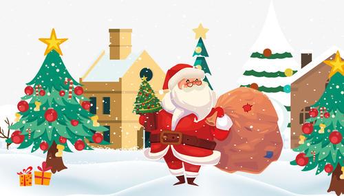 圣诞老人装饰元素
