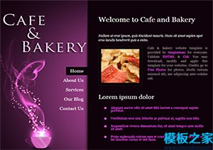 cafe bakery迷你web网站