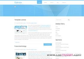 导航式企业官网首页模板