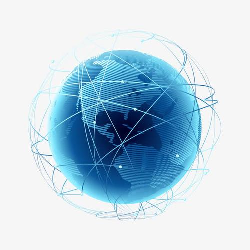 蓝色互联网地球