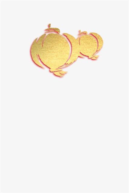 金色灯笼贴纸
