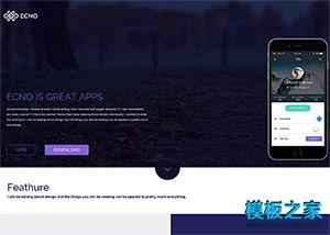 app应用官网bootstrap模板
