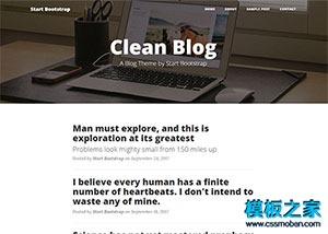 个人博客简约主页html5模板