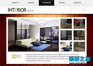 木纹背景家居家装企业网站模板