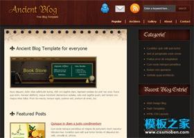 复古木纹个性的网站模板
